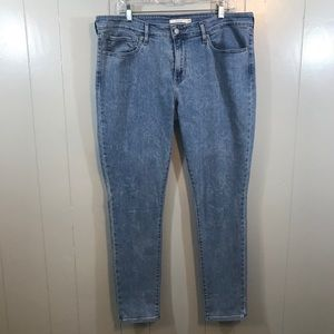 Levi's 711 Skinny Blue Stretchy Mid Rise Jeans 12